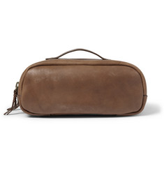 J.Crew Montague Leather Wash Bag