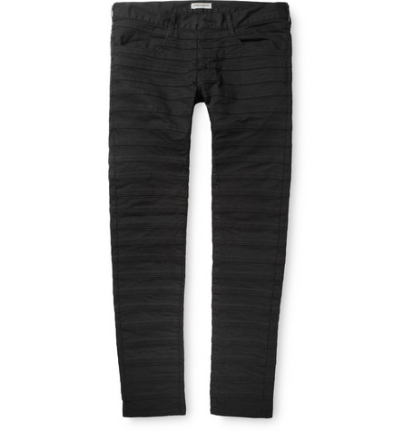 Undercover Slim-Fit Panelled Cotton-Blend Jeans