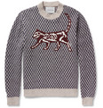 Undercover - Jacquard-Knit Wool-Blend Sweater