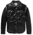 Undercover - Shearling-Trimmed Leather and Quillted Shell Bomber Jacket