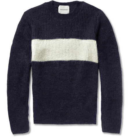 Undercover Striped Mohair-Blend Sweater