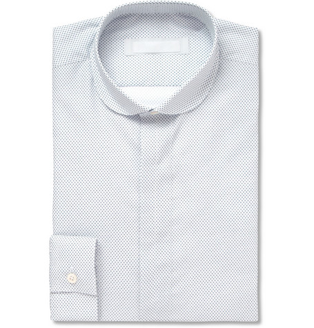 Spencer Hart Printed Round Collar Cotton Shirt
