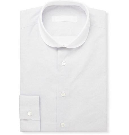 Spencer Hart White Dot-Print Cotton Shirt