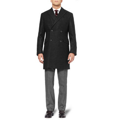 Spencer Hart Double-Breasted Brushed-Wool Coat