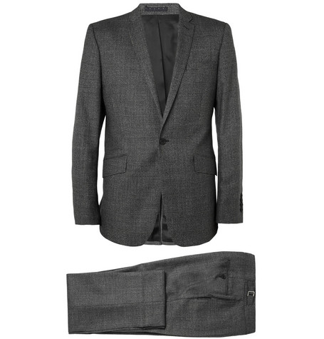Spencer Hart Grey Prince of Wales Check Wool Suit