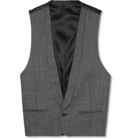 Spencer Hart Prince of Wales Check Wool Waistcoat