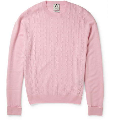 Hackett Mayfair Cable-Knit Cashmere Sweater