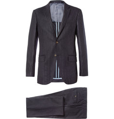 Hackett Chalk Stripe Wool Suit