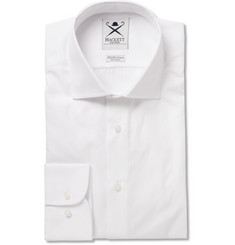 Hackett White Mayfair Slim-Fit Cotton-Poplin Shirt