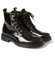 AMI Glazed-Leather Boots