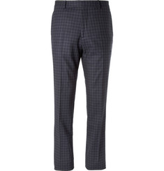 Hardy Amies Check Wool-Blend Suit Trousers