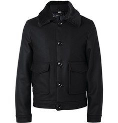 Hardy Amies Slim-Fit Wool and Cashmere-Blend Bomber Jacket