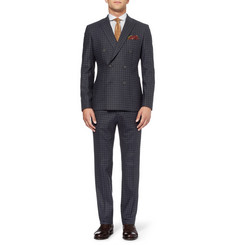 Hardy Amies Slim-Fit Check Wool-Blend Suit Jacket