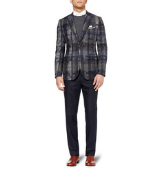 Hardy Amies Bauhaus Slim-Fit Check Wool Blazer