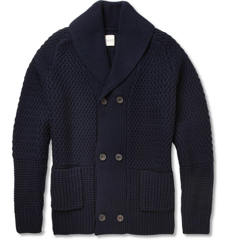 Hardy Amies Chunky Double-Breasted Wool Cardigan