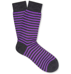 Richard James Striped Merino Wool-Blend Socks