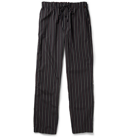 Hanro Striped Cotton Pyjama Bottoms