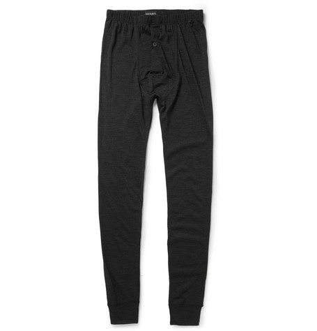 Hanro Wool and Silk-Blend Jersey Pyjama Trousers