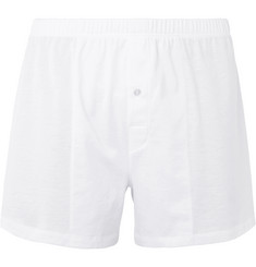 Hanro Sporty Mercerised Cotton Boxer Shorts