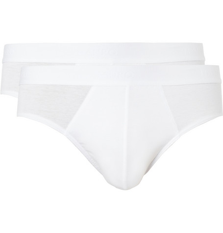 Hanro Two-Pack Cotton-Blend Briefs