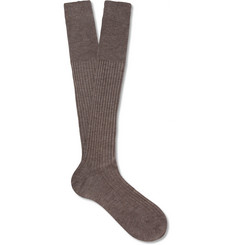 Bresciani Cashmere and Silk-Blend Socks