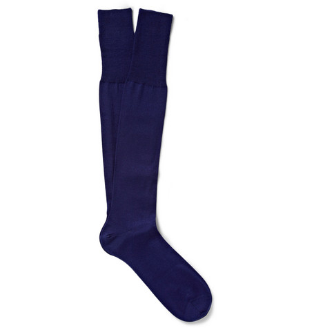 Bresciani Cashmere Knee-Length Socks