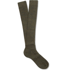 Bresciani Knee-Length Wool-Blend Socks