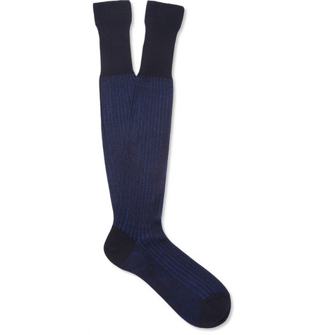 Bresciani Knee-Length Cotton-Blend Socks