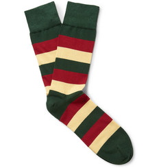 Corgi Mercian Regiment Striped Cotton-Blend Socks