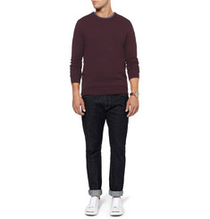 J.Crew Suede Elbow Patch Merino Wool Sweater