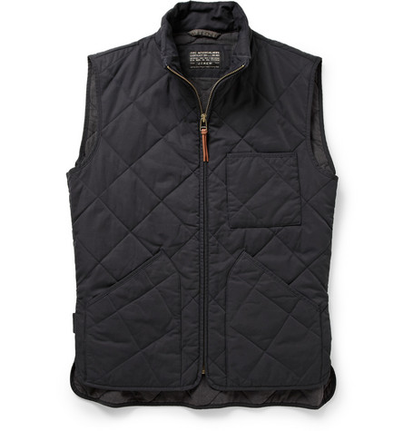 J.Crew Quilted Cotton-Blend Gilet