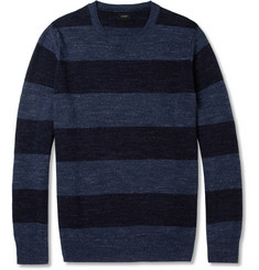 J.Crew Striped Knitted Cotton Sweater