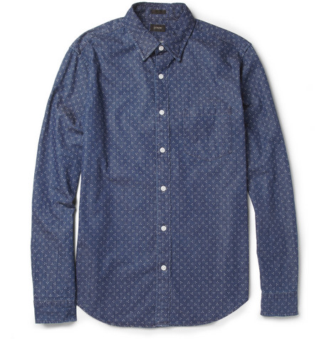 J.Crew Dot-Print Cotton Shirt