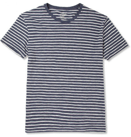 J.Crew Striped Cotton Crew Neck T-Shirt