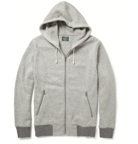 J.Crew Fleece-Backed Knitted Hoodie