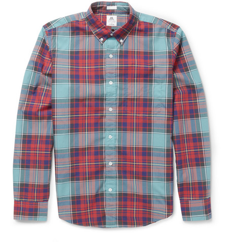 J.Crew Thomas Mason Plaid Cotton Shirt