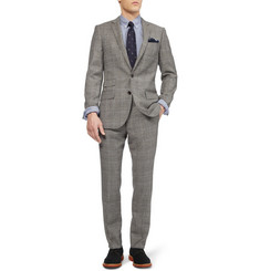 J.Crew Slim-Fit Glen Plaid Wool-Blend Suit Trousers
