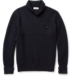 J.Crew Wallace & Barnes Cable-Knit Wool Sweater