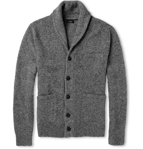 J.Crew Flecked Wool-Blend Cardigan