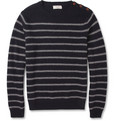 J.Crew - Striped Wool Crew Neck Sweater