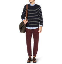 J.Crew Striped Wool Crew Neck Sweater