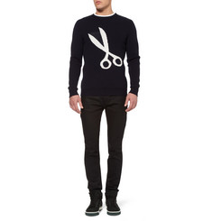 London Collections. Men J.W.Anderson Scissor-Intarsia Sweater