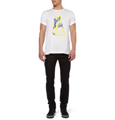 London Collections. Men J.W.Anderson Heart-Print Cotton-Jersey T-Shirt