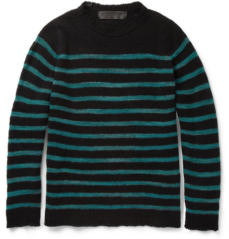 The Elder Statesman Picasso Striped Open-Knit Cashmere Sweater