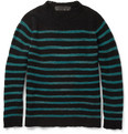 The Elder Statesman - Picasso Striped Open-Knit Cashmere Sweater