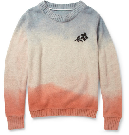 The Elder Statesman Hand-Dyed Flower Cashmere Sweater