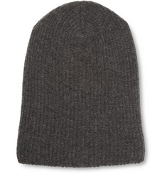The Elder Statesman Ribbed Cashmere Beanie Hat