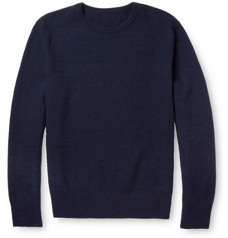 The Elder Statesman Crew Neck Cashmere Sweater