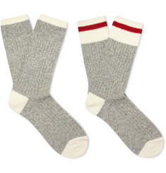 Beams Plus Two-Pack Knitted Cotton-Blend Socks