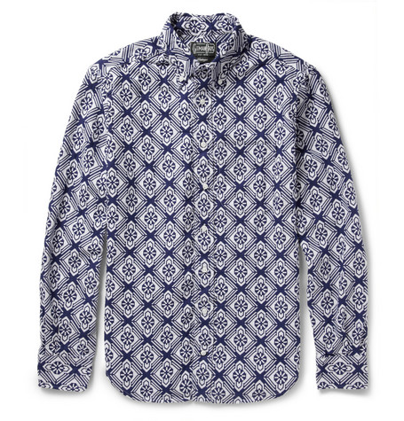 Gitman Vintage Cotton Jacquard Shirt
